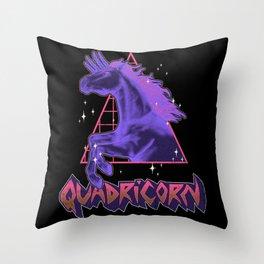 Quadricorn Throw Pillow