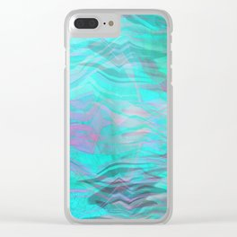Abstract  Wave Clear iPhone Case