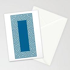 Greek Key blue Stationery Cards