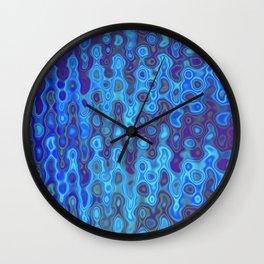 Mushroom Coral Blue - Coral Reef Series 032 Wall Clock