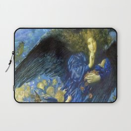 Night with her Train of Stars by Edward Robert Hughes Laptop Sleeve