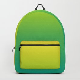 Meadowlark, Lime Punch, Arcadia Blurred Minimal Gradient | Pantone colors of the year 2018 Backpack