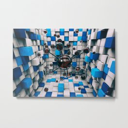 Distorted Perception Metal Print