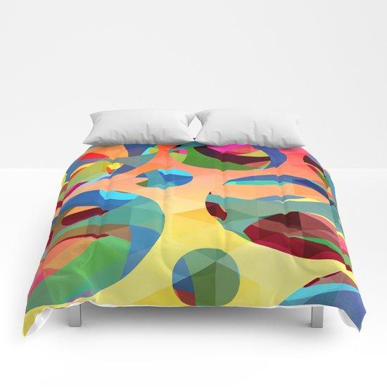 modern art Comforters