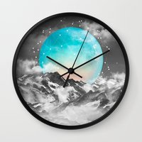 teal Wall Clocks featuring It Seemed To Chase the Darkness Away by soaring anchor designs