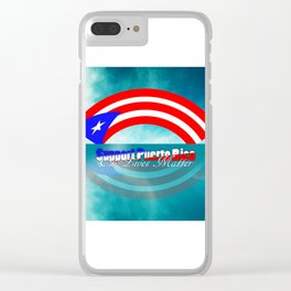 Support Puerto Rico Clear iPhone Case
