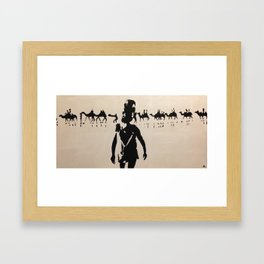 Broome Camels Framed Art Print