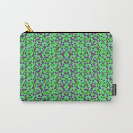 PURPLE AND GREEN MINI RECTANGLES Carry-All Pouch