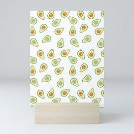 AVOCADO AVOCADOS FOOD PATTERN Mini Art Print