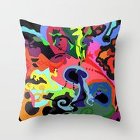 revolution Throw Pillows featuring REVOLUTION by rLOVEution