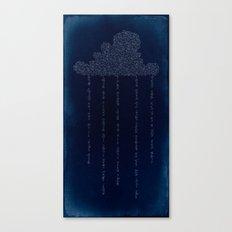 Cloud in Blue Canvas Print