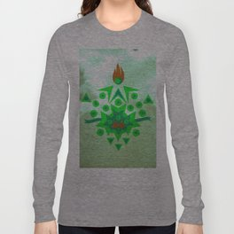 Abstract Reversal of P.O.K.Y Long Sleeve T-shirt
