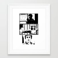 taxi driver Framed Art Prints featuring Taxi Driver by Giuseppe Cristiano
