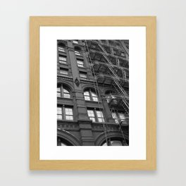 Windows and Stairs Framed Art Print