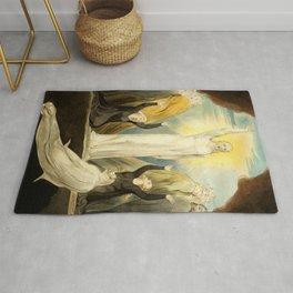 """William Blake """"The Raising of Lazarus"""" Rug"""