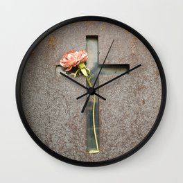 Flower and Rust Wall Clock