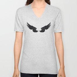 Black Angel Wings Unisex V-Neck