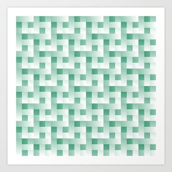 Mint Squares Art Print