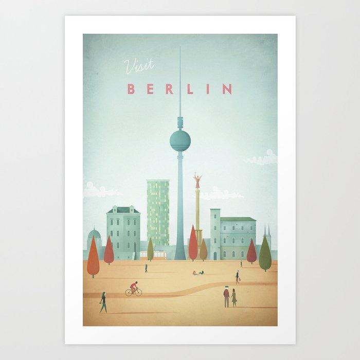 Vintage Berlin Travel Poster Kunstdrucke