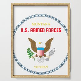 Montana U.S. Armed Forces Veteran Serving Tray