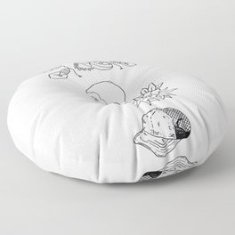 Science Fiction Character Illustration Floor Pillow