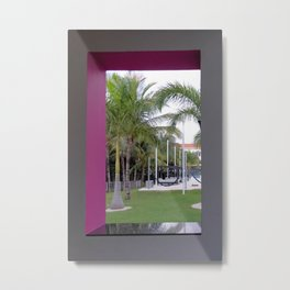 Tranquility Through The Window Metal Print
