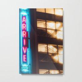 Arrive - Memphis Photo Print Metal Print