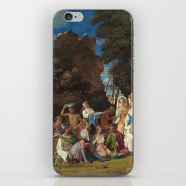 The Feast of the Gods Painting by Giovanni Bellini and Titian iPhone Skin