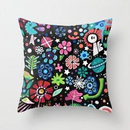 magical flowers Throw Pillow