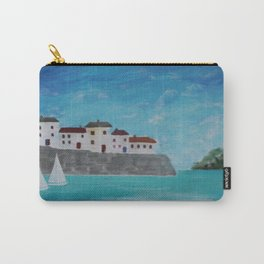 White sails in the harbour. Carry-All Pouch