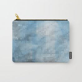 Abstract blue pattern 3 Carry-All Pouch