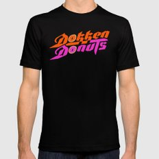Dokken Donuts Black LARGE Mens Fitted Tee
