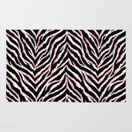 Zebra fur texture print Rug