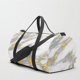 Carrara Marble with Gold Duffle Bag