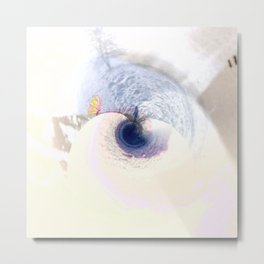 meeting on the blue planet Metal Print