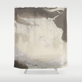 Marbled Hot Chocolate Shower Curtain