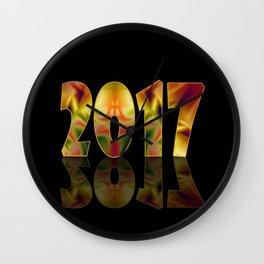 New 2017. Wall Clock