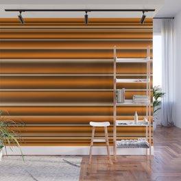 Orange brown lines Wall Mural