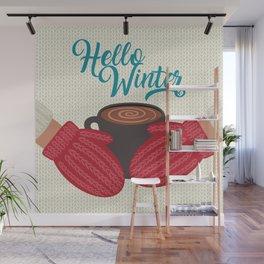 Hello, Winter Wall Mural