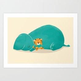 Tiger Mother Art Print