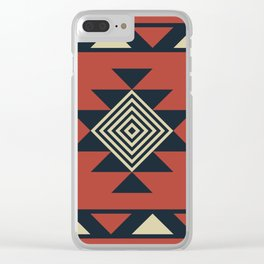 Aztec pattern Clear iPhone Case
