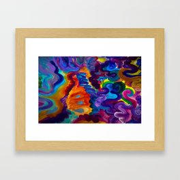 A Lonely Glass of Milk Framed Art Print