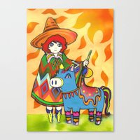 sunshine Canvas Prints featuring Sunshine by Natsuki Otani
