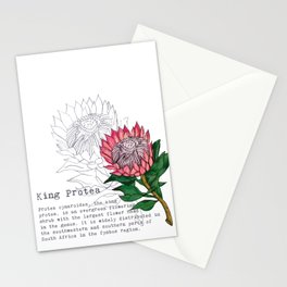 King Protea Stationery Cards