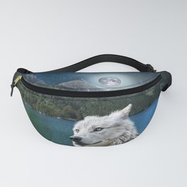 White Wolf and Moonlight Fanny Pack