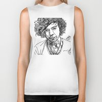 harry styles Biker Tanks featuring Harry Styles by Hollie B