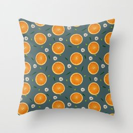 Aliño de naranjas Throw Pillow