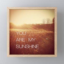 You Are my Sunshine Framed Mini Art Print