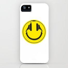 Headphones smiley wire plug iPhone Case