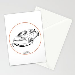 Crazy Car Art 0221 Stationery Cards